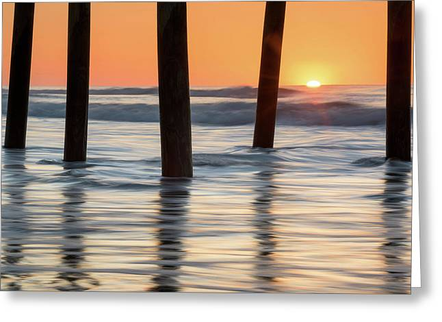 Folly Beach Sunrise Charleston South Carolina Greeting Card by Mark VanDyke