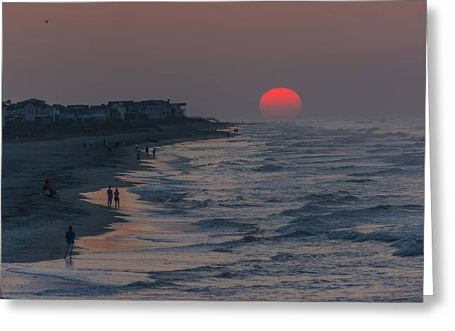 Folly Beach Sunrise Greeting Card