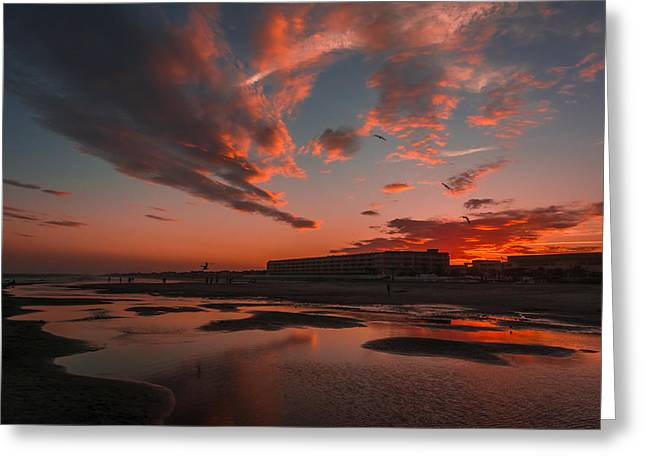 Folly Beach Sunset Greeting Card