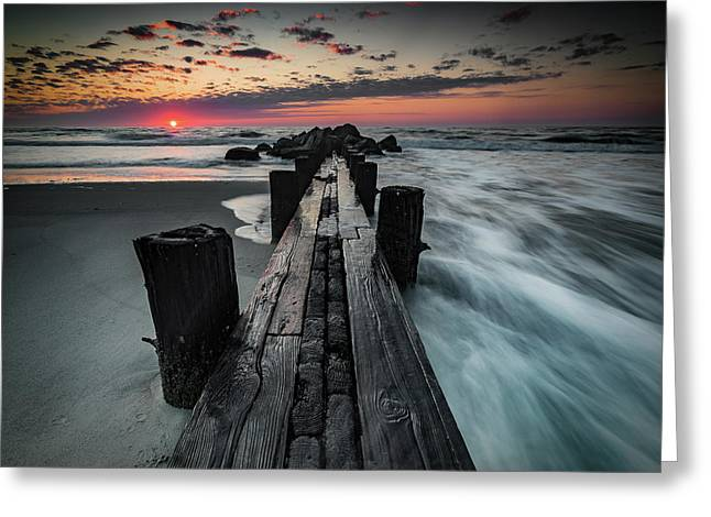 Folly Beach Tale Of Two Sides Greeting Card