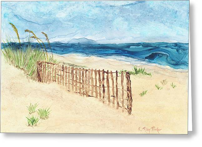 Folly Field Fence Greeting Card