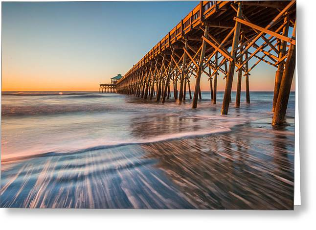 Folly Pier Greeting Card