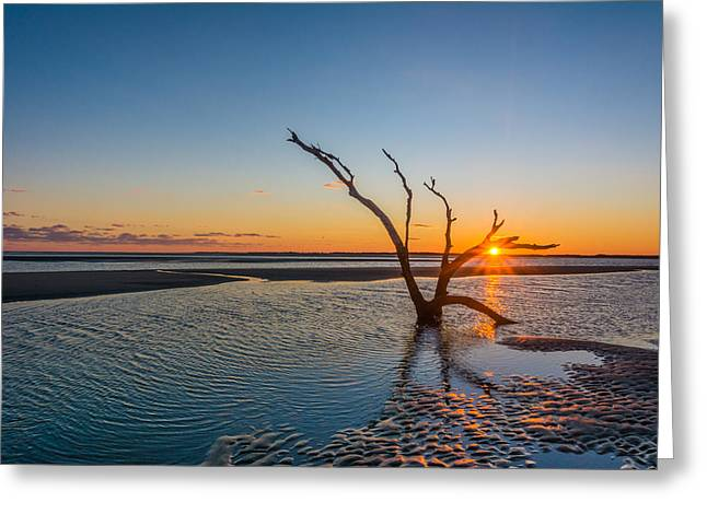 Folly Sunset Greeting Card