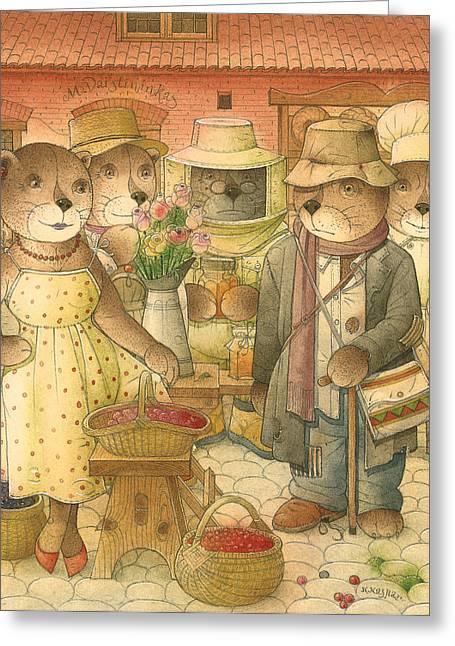 Folrentius The Gardener07 Greeting Card by Kestutis Kasparavicius