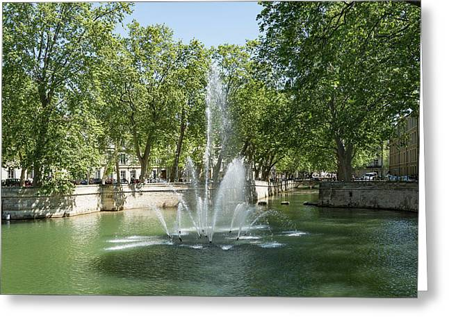 Greeting Card featuring the photograph Fontaine De Nimes by Scott Carruthers