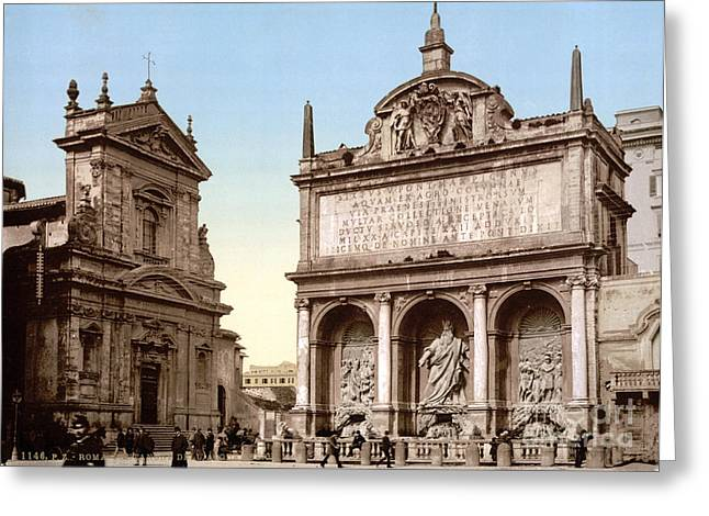 Fontana Dellacqua Felice, 1890s Greeting Card