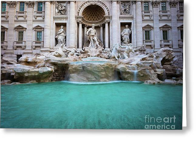 Fontana Di Trevi Pool Greeting Card by Inge Johnsson
