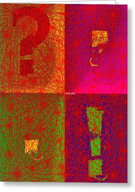 Fontart Series  I Love You Greeting Card by Edwin Loyola