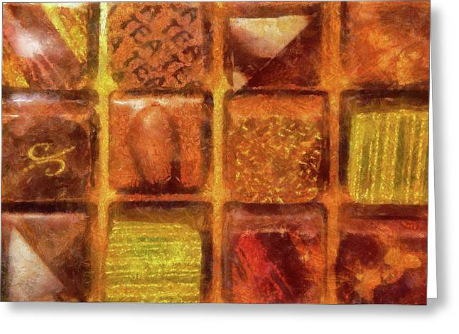 Food - Candy - Excellent Chocolates Greeting Card by Mike Savad