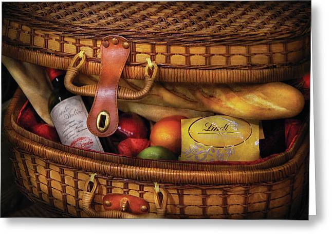 Food - Let's Picnic Greeting Card by Mike Savad