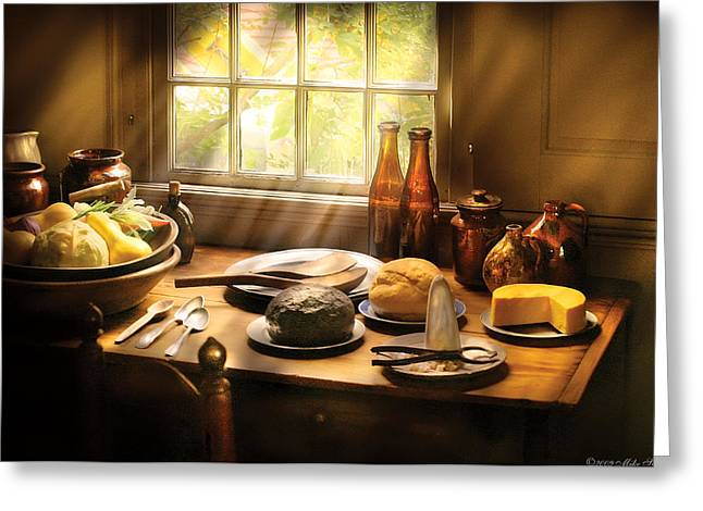 Food - Ready For Guests Greeting Card by Mike Savad