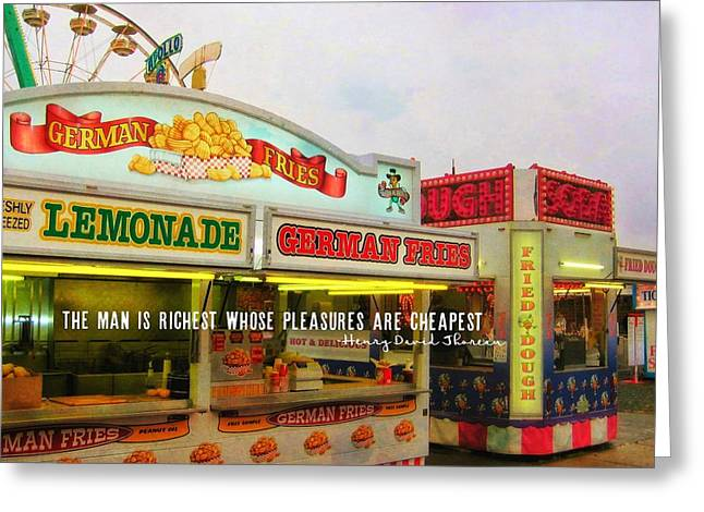Food And Fun Quote Greeting Card by JAMART Photography