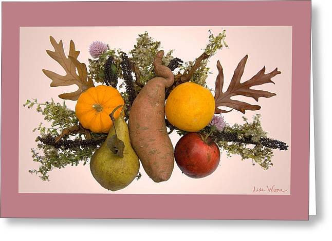 Food Bouquet Greeting Card by Lise Winne