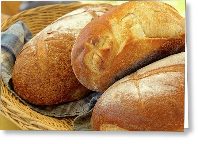 Greeting Card featuring the photograph Food - Bread - Just Loafing Around by Mike Savad