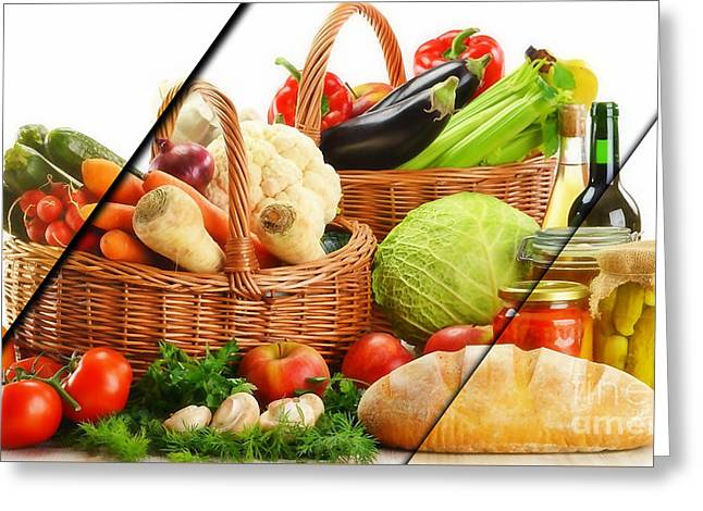 Food Collection Greeting Card
