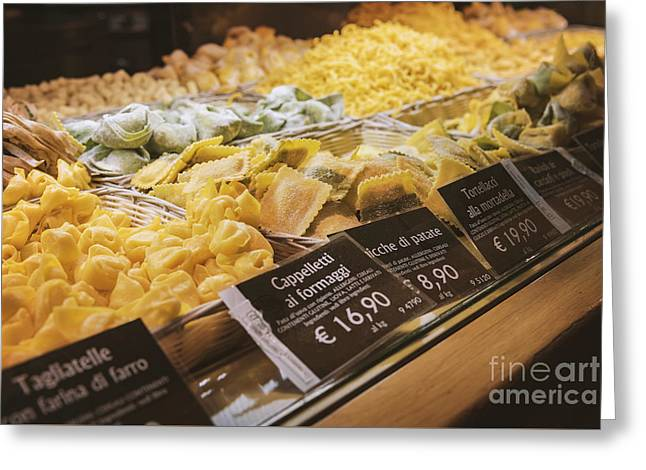 Food Court Pasta Greeting Card by Sophie McAulay