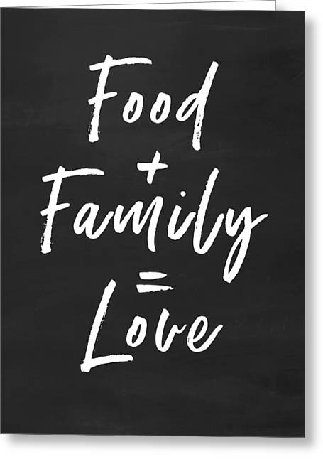 Food Family Love- Art By Linda Woods Greeting Card