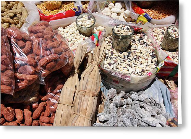 Greeting Card featuring the photograph Food Market by Aidan Moran