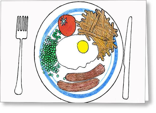 Food Of The Gods Greeting Card by Andy  Mercer