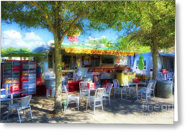 Food Trucks At Seaside Florida Greeting Card by Mel Steinhauer