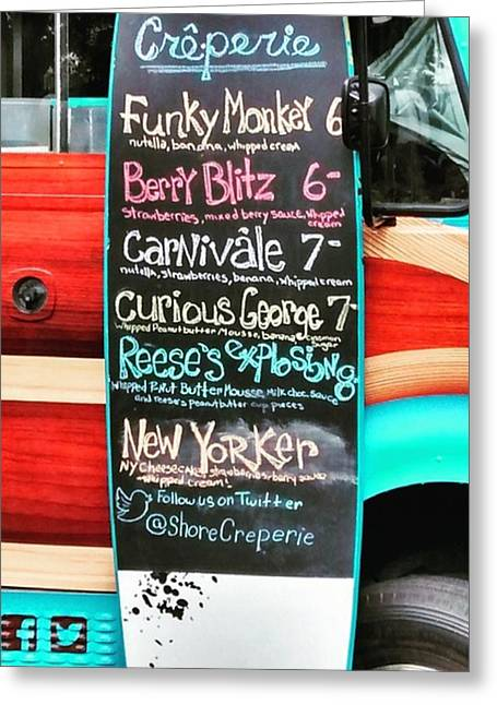 Funky Monkey Food Truck Greeting Card