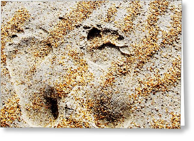 Foot Prints  -  Part 2 Of 3 Greeting Card by Sean Davey