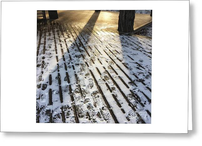 Foot Prints Greeting Card by Sarah Vandenbusch