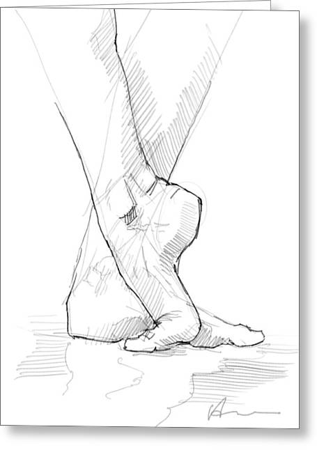 Foot Study Greeting Card