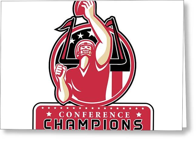 Football Conference Champions Atlanta Retro Greeting Card