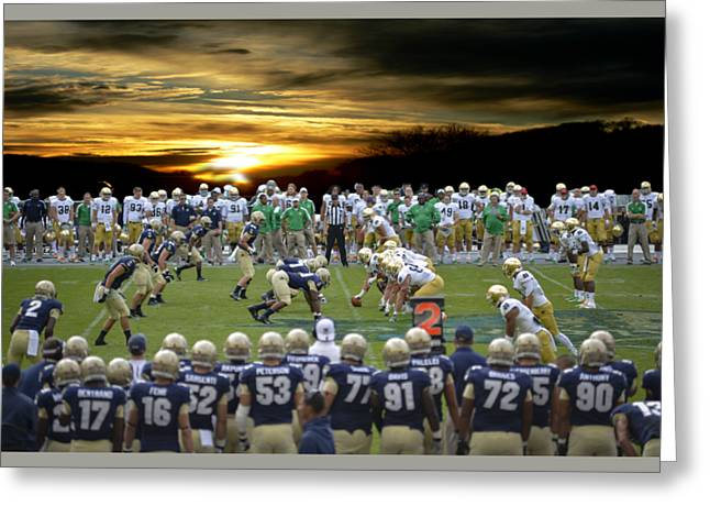 Football Field-notre Dame-navy Greeting Card