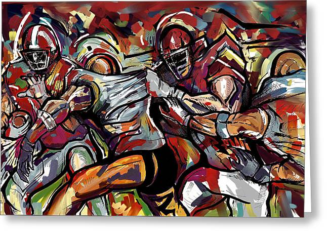 Football Frawl Greeting Card