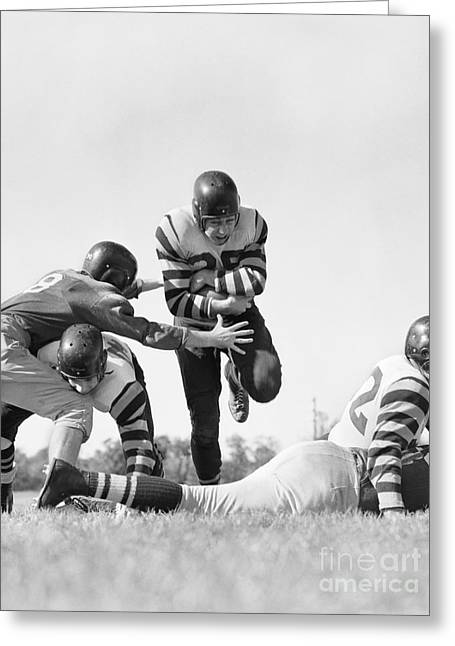 Football Game, C.1950s Greeting Card by H. Armstrong Roberts/ClassicStock