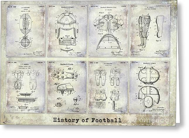 Football Patent History Greeting Card by Jon Neidert