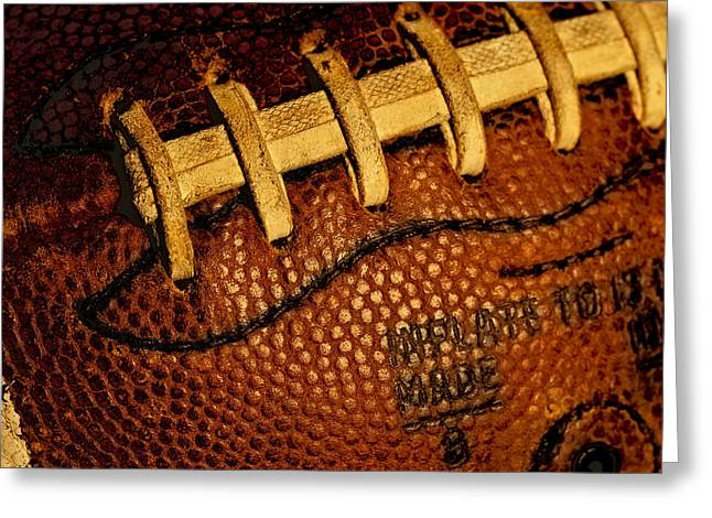 Football - The Gridiron Tool Greeting Card by David Patterson