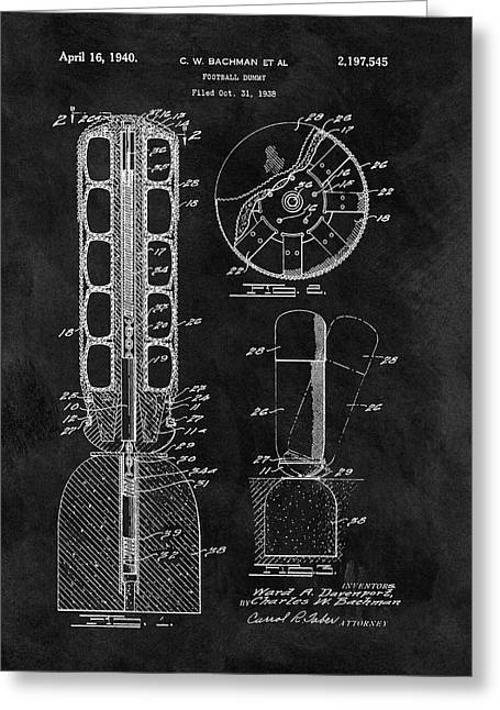 Football Training Equipment Patent Greeting Card by Dan Sproul