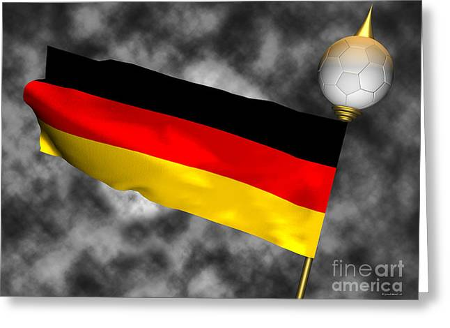 Football World Cup Cheer Series - Germany Greeting Card by Ganesh Barad