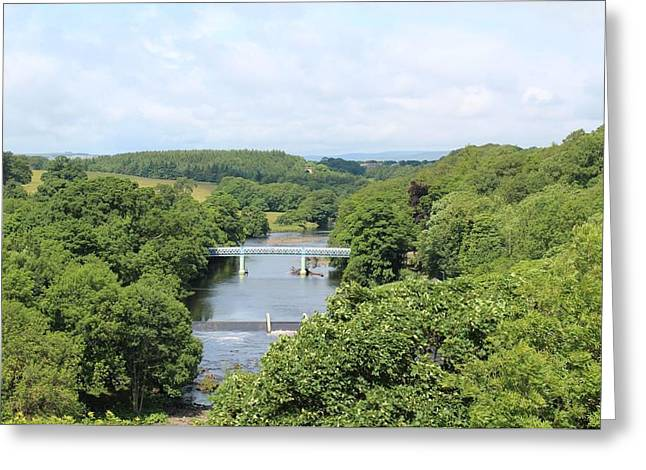 Footbridge Over The River Tees Greeting Card