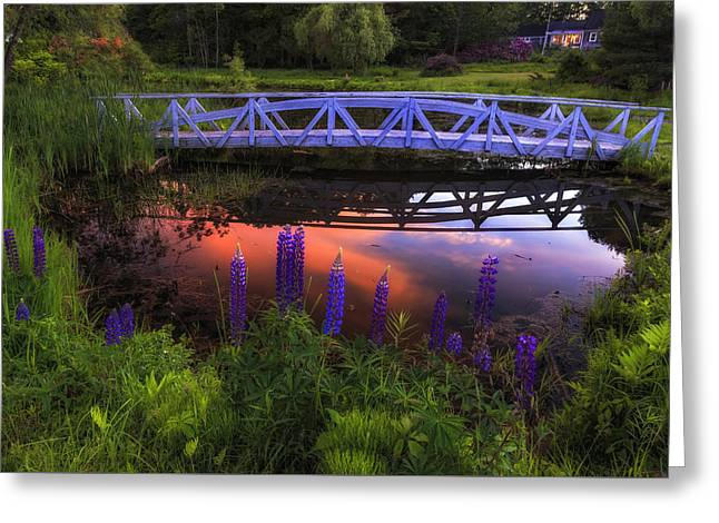 Footbridge Sunset Greeting Card