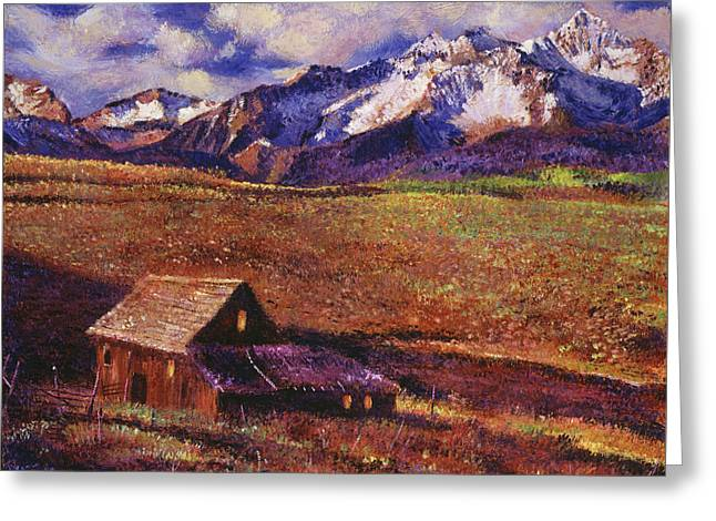 Foothill Ranch Greeting Card by David Lloyd Glover