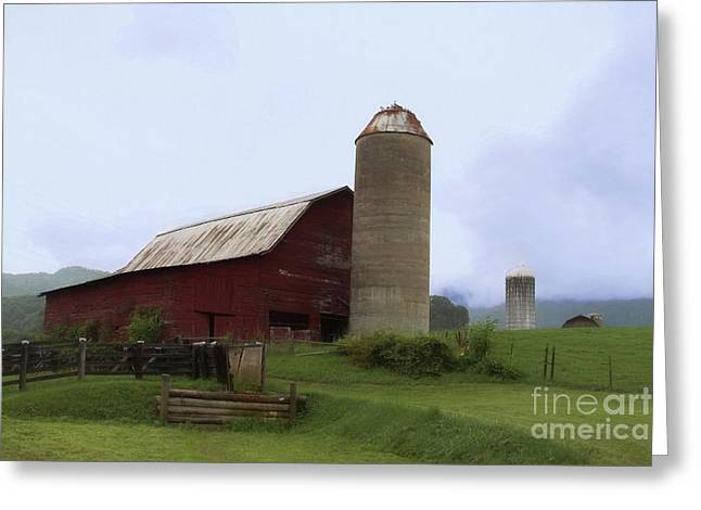 Foothills Farm Greeting Card by Benanne Stiens