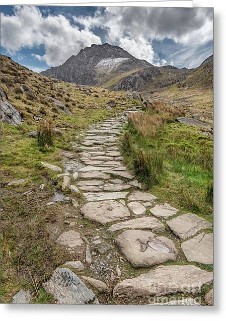 Footpath To Tryfan Greeting Card by Adrian Evans