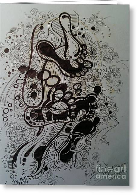 Footprints Of Life Greeting Card
