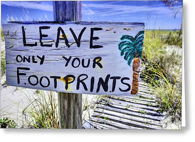 Footprints Only Greeting Card