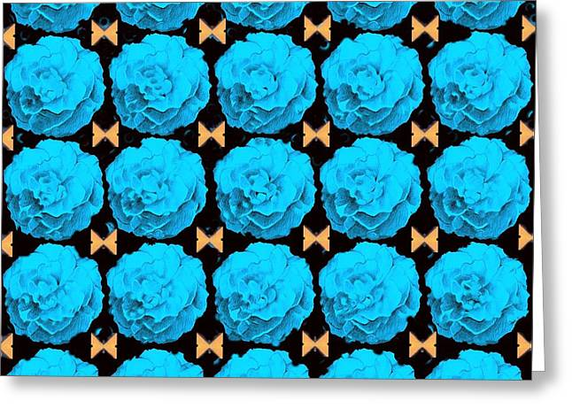 For Every Blue Rose There Is A Butterfly Greeting Card by Helena Tiainen