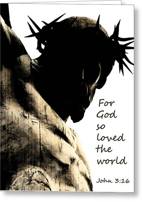 For God So Loved The World John 3 16 Greeting Card by Jani Freimann