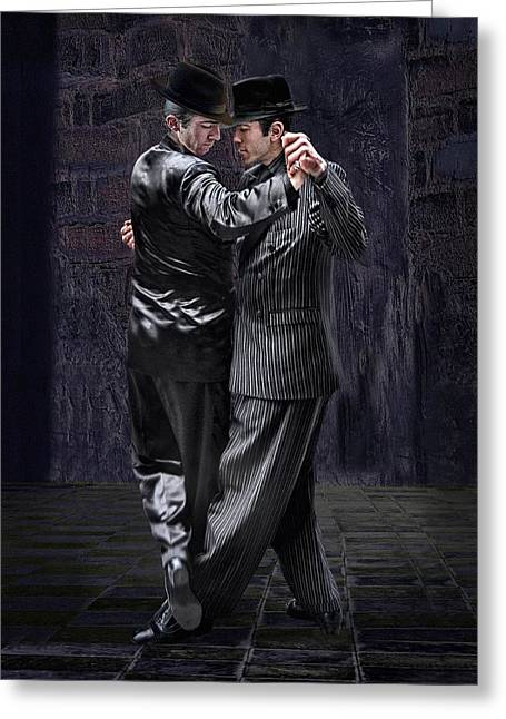 Buenos Aires Greeting Cards - For Men Only - Tango Series Greeting Card by Raul Villalba