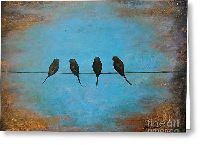 For The Birds Greeting Card by Nancy Quiaoit