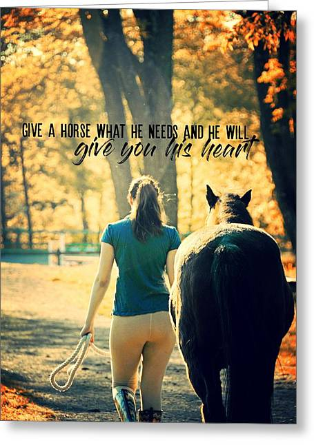 For The Love Of A Pony Quote Greeting Card