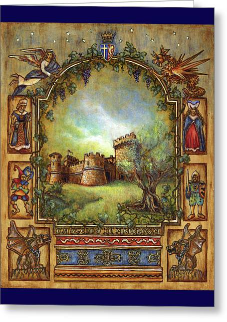 For The Love Of Castles Greeting Card by Retta Stephenson