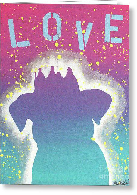 Greeting Card featuring the painting For The Love Of Pups by Melissa Goodrich